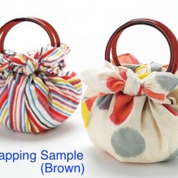 Two rings for making strawberry bag with Japanese Furoshiki wrapping cloth