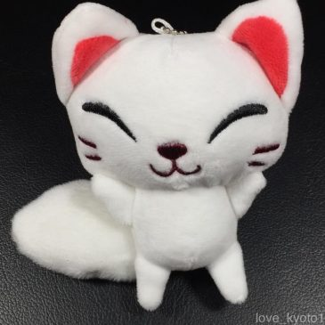 Fushimi Inari Shrine Soft White Fox Doll Cute Kawaii with Chains