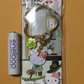Hello Kitty Japanese Style Tea Ceremony Key Holder from Japan