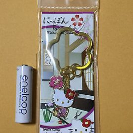 Hello Kitty Japanese Style Flower Arrangement Key Holder from Japan