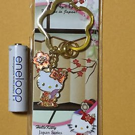 F/S Hello Kitty Japanese Style Japanese Dance Key Holder from Japan