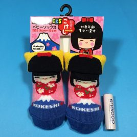Baby Socks Japanese Kokeshi Doll Cute Kawaii for 1 – 2 years old Kyoto Japan
