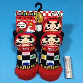 F/S Baby Socks Japanese Daruma Cute Kawaii for 1 – 2 years old Kyoto Japan
