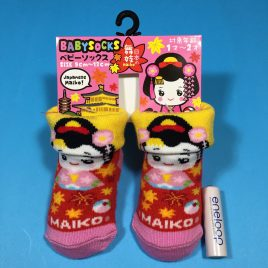 Baby Socks Japanese Maiko Girl Cute Kawaii for 1 – 2 years old Kyoto Japan
