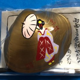 Kyoto Maiko Handicraft Real Seashell Hand Painted Lipstick Crimson Japan