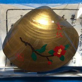 Kyoto Maiko Handicraft Real Seashell Hand Paint Lipstick Crimson Camellia