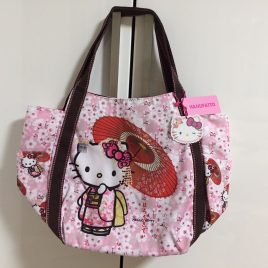 Hello Kitty Manufatto Japanese Kimono Sakura Umbrella Bag from Kyoto Japan