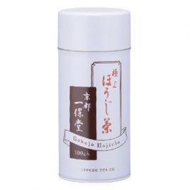 F/S Japanese Ippodo Gokujyo Hojicha Premium Quality Roasted Tea Large Can 100g