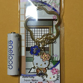 F/S Hello Kitty Japanese Style Calligraphy Key Holder from Japan