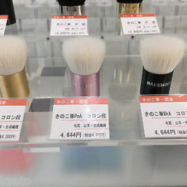 F/S Hakuhodo Hand Crafted Makeup Brush Kinoko Column GmA PmA BkA Goat Synthetic