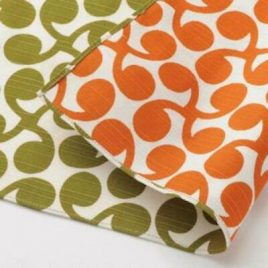 Japanese Furoshiki Sprout Double Side Wrapping Cloth Green and Orange