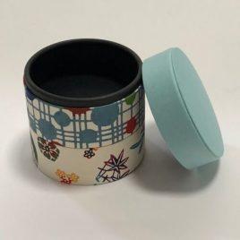 F/S Handicraft Circle Paper Box Yuzen Traditional Dyeing Paper Suzuki Shofudo D