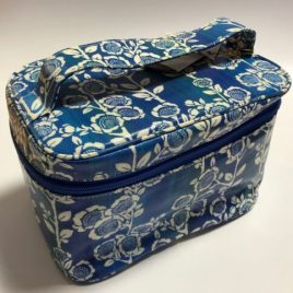 seisuke88 Big Vanity Case Japanese Traditional Kimono Motif from Kyoto Japan