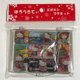 F/S Hello Kitty Japanese Kimono Kitchen Magnet 8pcs Cute Kawaii from Kyoto Japan