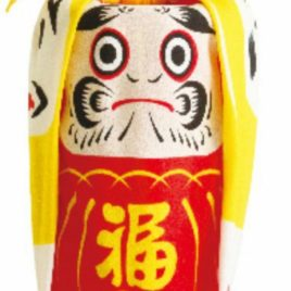 Japanese Beautiful Furoshiki Wrapping Cloth Daruma Tumbling Doll from Kyoto