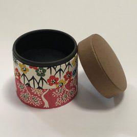 F/S Handicraft Circle Paper Box Yuzen Traditional Dyeing Paper Suzuki Shofudo A