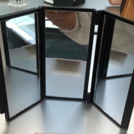 F/S Hakuhodo Three Way Compact Mirror for Eye Makeup H3497 from Kyoto Japan