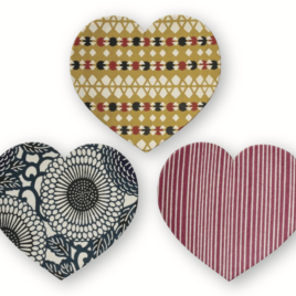 F/S Handicraft Heart Paper Tray Yuzen Dyeing Paper Kyoto Suzuki Shofudo
