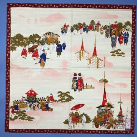 Beautiful Wrapping Cloth Kyoto Three Major Festival Cotton 100% Kyoto Japan