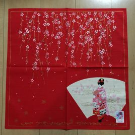 Japanese MAIKO Beautiful Wrapping Cloth Cotton 100% from Kyoto Japan