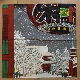 Japanese Furoshiki Wrapping Cloth Ukiyoe Snowy Asakusa Hiroshige Utagawa