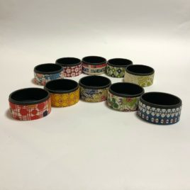 F/S Handicraft Circle Paper Box Yuzen Traditional Dyeing Paper Suzuki Shofudo