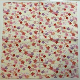 Japanese Wrapping Cloth Yuzen Dyeing Pattern Cotton 100% Kyoto Japan E