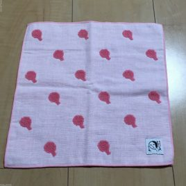 Yojiya Min Gauze Towel Hand Mirror Pink 25cm made in Japan from Kyoto