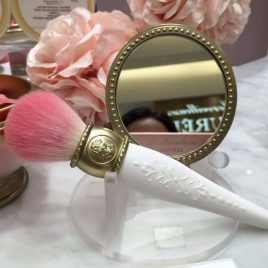 LADUREE Les Merveilleuses Makeup Cheek Brush Rose Color from Kyoto Japan