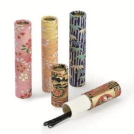 F/S Handicraft Hair Pin Case 3pcs Set Yuzen Dyeing Paper Kyoto Suzuki Shofudo