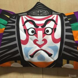 Japanese Kabuki Furoshiki Beautiful Wrapping Cloth Cotton 100% from Kyoto