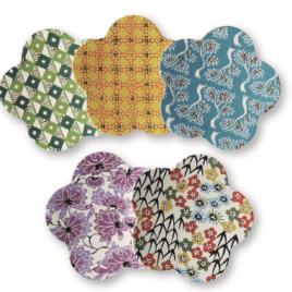 F/S Handicraft Flower Style Paper Tray Yuzen Dyeing Paper Kyoto Suzuki Shofudo