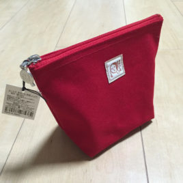 Yojiya Ship Style Cosmetic Bag Red Color made in Japan from Kyoto Japan