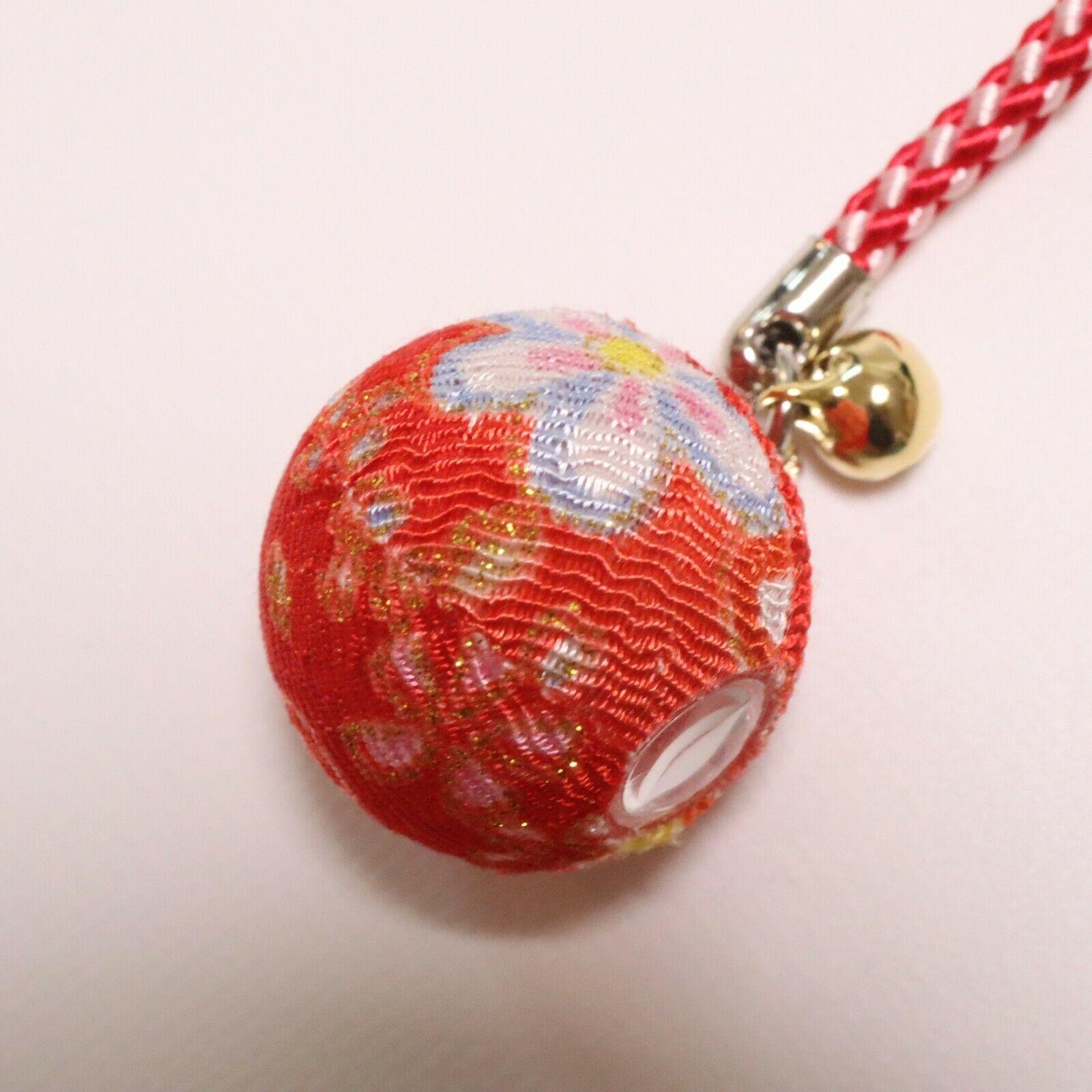 F//S Japanese Kaleidoscope Mangekyo Chirimen Weave Crepe Fabric Strap Pink Kyoto