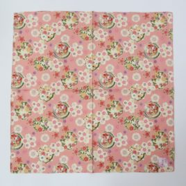 Japanese Wrapping Cloth Yuzen Dyeing Pattern Cotton 100% Kyoto Japan B