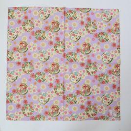 Japanese Wrapping Cloth Yuzen Dyeing Pattern Cotton 100% Kyoto Japan C