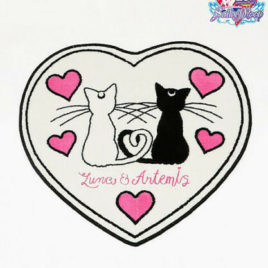 Sailor Moon Die-cut Floor Mat Luna and Artemis from Kyoto Japan