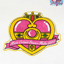 Sailor Moon Die-cut Floor Mat Cosmic Heart Compact from Kyoto Japan