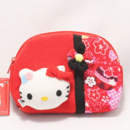 Hello Kitty Cute Kawaii Compact Pouch Chirimen Crepe Kyoto Japan A