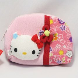 Hello Kitty Cute Kawaii Compact Pouch Chirimen Crepe Kyoto Japan C