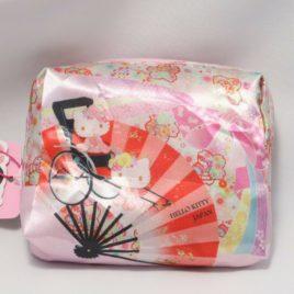 F/S Hello Kitty Cute Kawaii Compact Eco Bag Japanese Folding Fan Sensu Kyoto