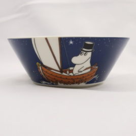 Arabia Moominpappa Bowl in Blue Color 15cm Moomin Classics Finland 2014