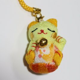 Maneki Neko Chirimen Kimono Crepe Fabric Lucky Money Fortune Cat Cute A