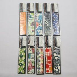 Handicraft Bookmark Japanese Paper Yuzen Dyeing Pattern with Kyoto Braid