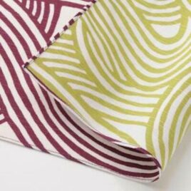 Japanese Furoshiki Double Side Wrapping Cloth Purple and Green Kyoto Japan