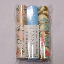 Handicraft Hair Pin Case 3pcs Set Yuzen Dyeing Paper Kyoto Suzuki Shofudo C