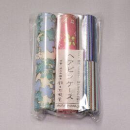 Handicraft Hair Pin Case 3pcs Set Yuzen Dyeing Paper Kyoto Suzuki Shofudo A