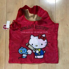 Hello Kitty Cute Kawaii Compact Eco Bag Baseball Kitty Japan