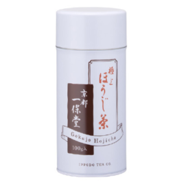 Japanese Ippodo Gokujyo Hojicha Premium Quality Roasted Tea Large Can 100g