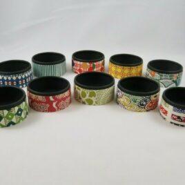 Handicraft Circle Paper Box Yuzen Traditional Dyeing Paper Suzuki Shofudo